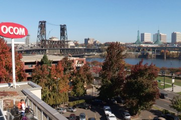 OCOM's gorgeous downtown campus on the banks of the Willamette, from a video by Gyroscope Pictures